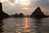 Sunset, Halong Bay.
