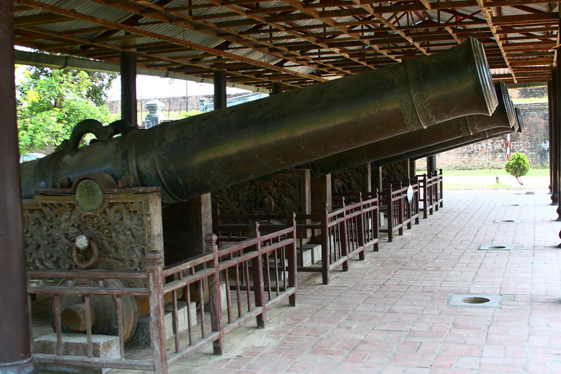 Nine cannons