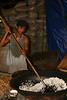 Making pop rice.