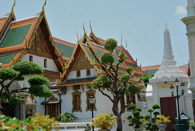 Buildings around the Temple of the Emerald Buddha, Bangkok