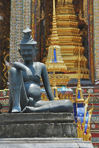 More scenes around the Temple of the Emerald Buddha, Bangkok
