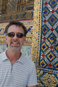 Jerry outside the Temple of the Emerald Buddha, Bangkok