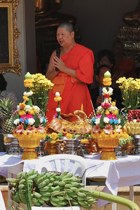 Buddhist monk offering a blessing