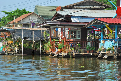 Typical houses along the Bangkok canals