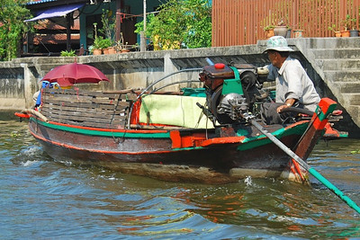 Small but fast canal boat in Bangkok