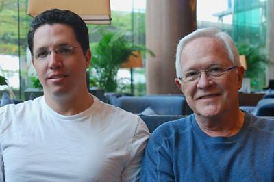 Brett and Bill at hotel bar