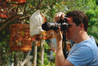 Brett shooting Bird Market - Kowloon
