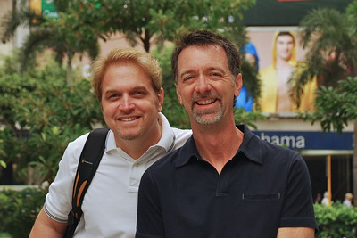 Wes and Jerry near Kowloon Park