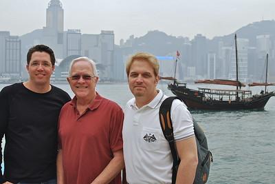 Brett, Bill, and Wes along Hong Kong Harbor