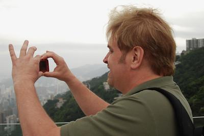 Wes shooting the Peak scene
