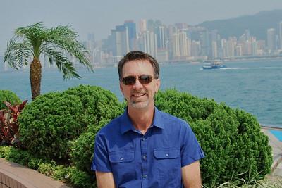 Jerry along Hong Kong Harbor