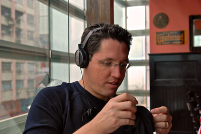 Testing those new headphones in Kowloon