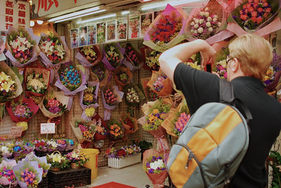 Wes at Kowloon's Flower Market