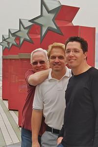 Bill, Wes, and Brett on star walk - Kowloon