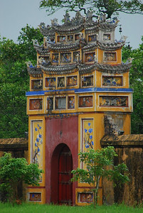 One of many gates within the Imperial Citadel (Hue, Vietnam)