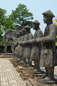 Stone army of men and animals (Tu Duc tomb)