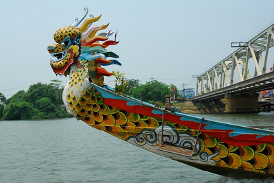 Sights along the Perfume River in Hue, Vietnam