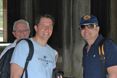 Bill, Brett, and Wes inside pavilion at Tu Duc tomb