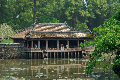 Pavilion on Luu Khiem lake at Tu Duc tomb.  The Emperor used to come to admire flowers, compose poems, and read books.