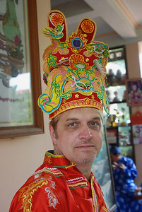 Fabulous traditional costume worn by our own Wes (lunch in Hue)