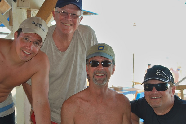 Brett, Bill, Jerry, and Wes - A Great Day on the Lamai Beach