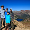 On Trail Rider Pass with Snowmass Lake below us