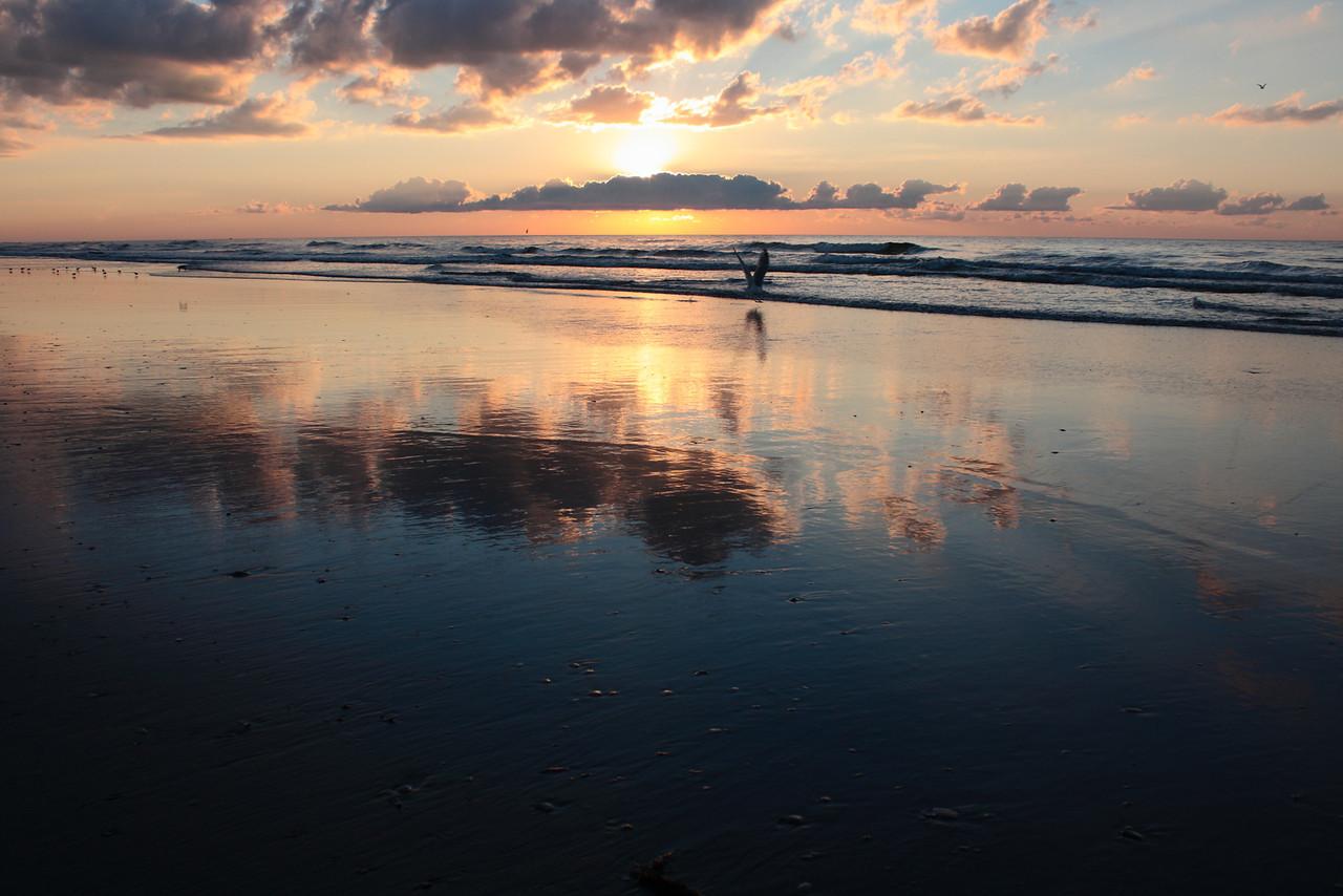 Sunrise on the beach in Avalon, New Jersey.