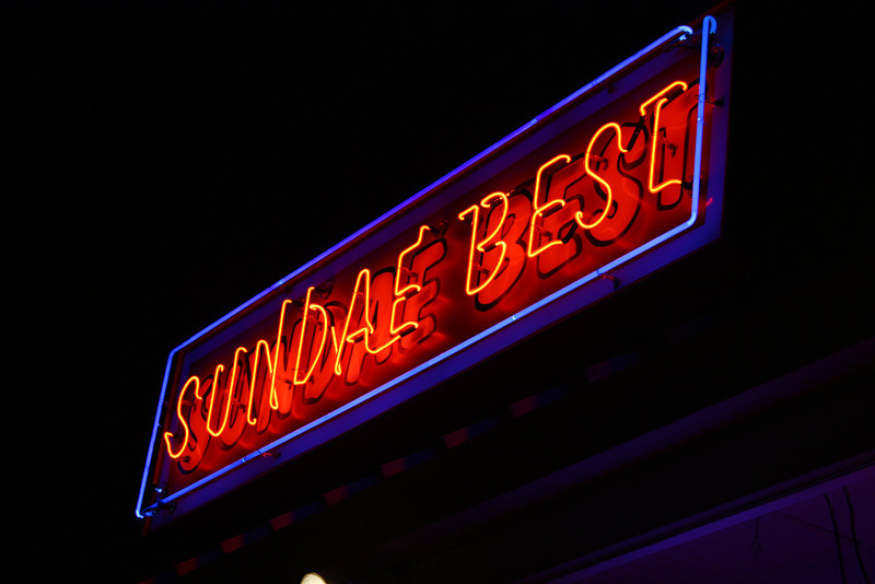 The Sundae Best sign.