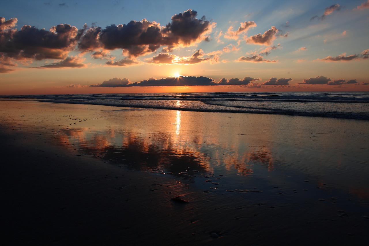 Sunrise in Avalon, New Jersey.