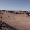 Nine miles from San Pedro de Atacama is the Valley of the Moon.  The valley is primarily shear cliffs, rugged walls and mountains of sand.