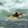 Kayaker in Skookumchuck Narrows during tide change
