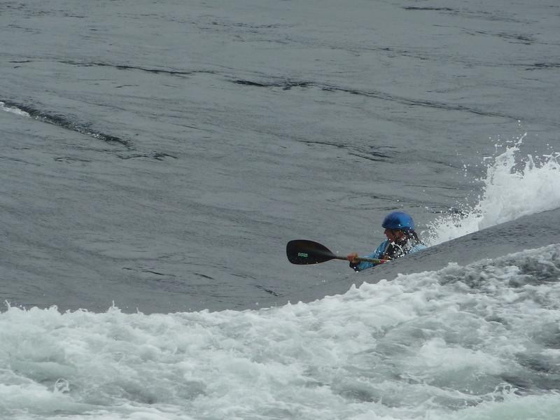 Crazy kayaker - Skookumchuck Narrows during tide change of 24 feet