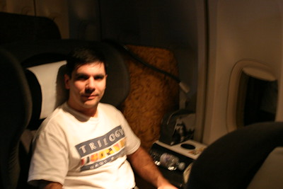 This picture is not blurry - that's what Steve looks like after 17,000 miles of travelling :-)