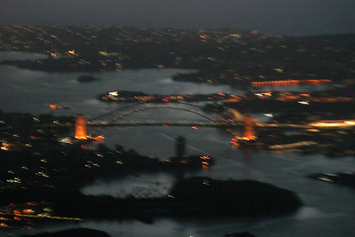 Okay - this one is pretty blurry, but hey, that's the bridge and opera house!