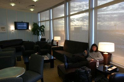 This is the British Airways First Class lounge at Seatac.  It's nothing too fancy, just a small inviting space with all the booze you could hope for.