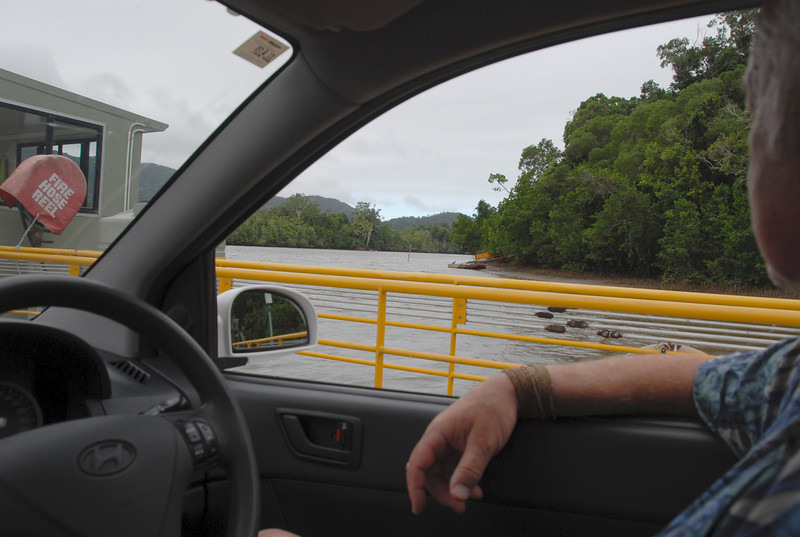 Now we take a ferry so we can continue north to Port Douglas