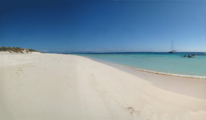 Today it's snorkeling day!!! This is Michaelmas Cay.