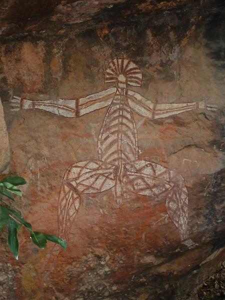 Aboriginal Rock drawing in Kakadu National Park