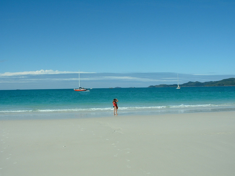 Whitsunday Islands sailing trip (the boat in the background) where I met my good friends Jos and Peter