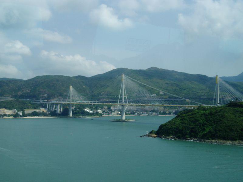 The Tsing Ma Bridge is the world's longest road and rail suspension bridge.