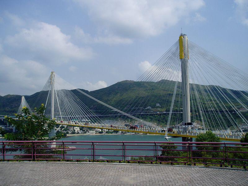 A closer view of the bridge.