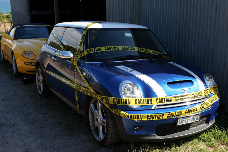 John's mini was given an offical caution after the Maserati incident