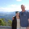 Matt & Lana with view of the range.