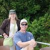 Matt & Lana on boat ride on Lake Barrine