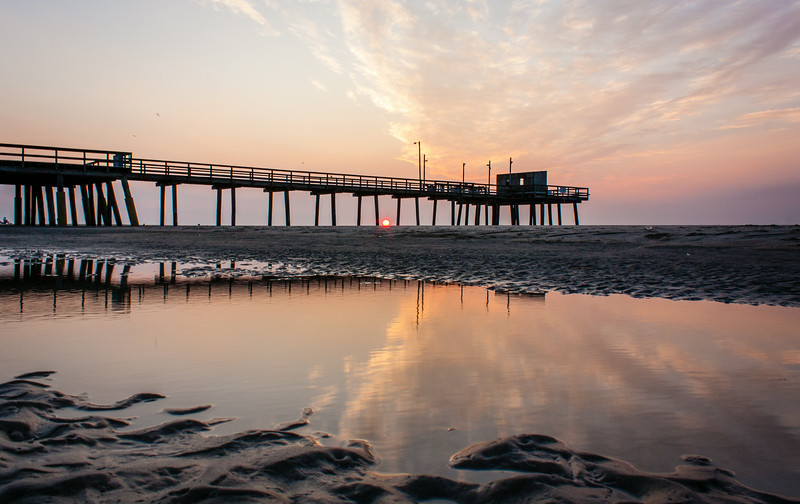 Sunrise at the Fishing Pier, Avalon, NJ