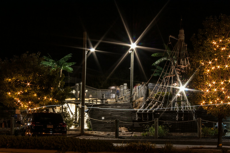 Pirate Island Mini Golf at Night