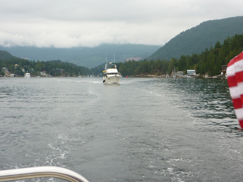 Leaving Pender Harbour