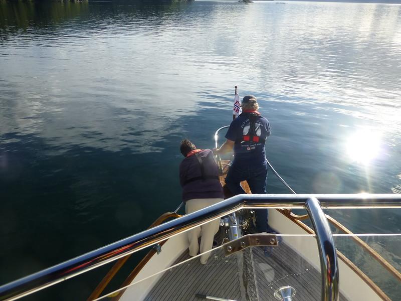 anchoring Thurston Bay
