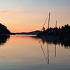 sunset at Prevost