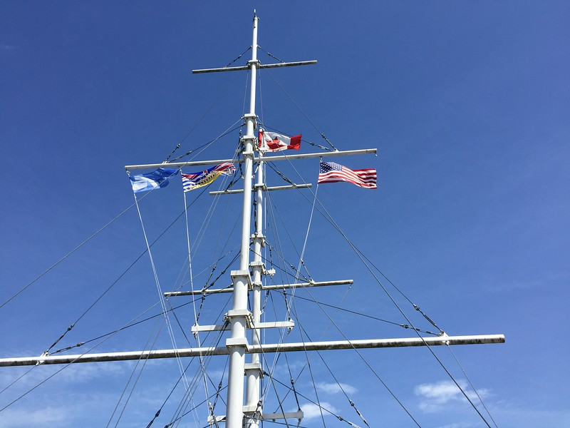 Still blowing- straits are rough_ nestle down in Nanaimo